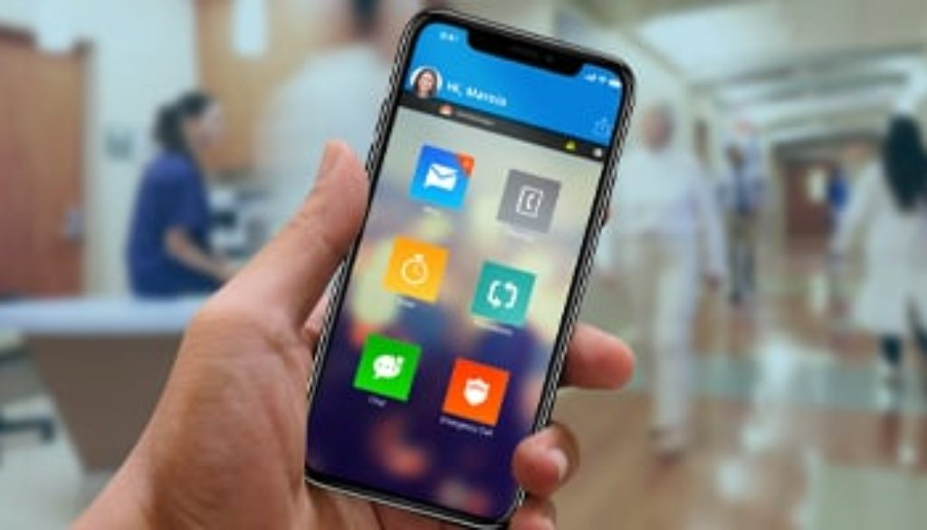 cell phone with mobile safety app open