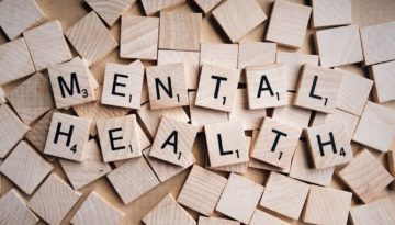 mental health spelled out in scrabble pieces