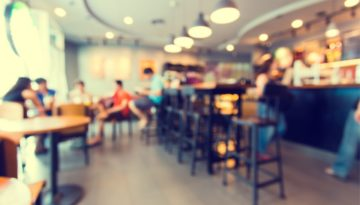 coffee shop with blurred background